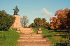 Monumento a Peter el grande en Vyborg Imagen de archivo