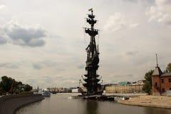 Monumento a Peter 1 en Moscú Imagen de archivo
