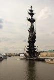 Monumento a Peter 1 en Moscú Fotografía de archivo