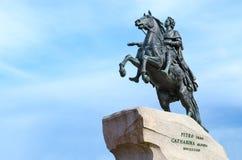 Monumento a Peter il grande cavallerizzo bronzeo, St Petersburg, Russia Fotografia Stock Libera da Diritti
