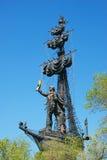 Monumento a Peter il grande a Mosca Fotografia Stock