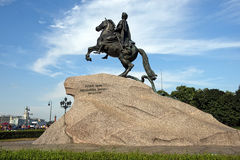 Monumento a Peter o grande, St Petersburg, Rússia Foto de Stock Royalty Free