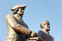 Monumento a Peter Rychkov y a Alexei Uglitsky Solenoide-Iletsk Fotografía de archivo libre de regalías