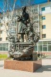 Monumento a Petr Pavlovich Yershov Tobolsk Fotografia de Stock Royalty Free