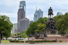 Monumento Philadelphia del George Washington Fotografie Stock