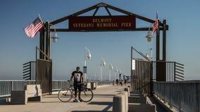Monumento Pier Time Lapse Video de Belmont almacen de video