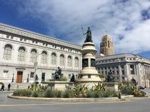 Monumento pionieristico, San Francisco Civic Center, 1 immagine stock libera da diritti