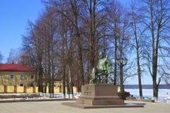 Monumento a Piotr Tchaikovsky em Votkinsk Rússia Foto de Stock Royalty Free