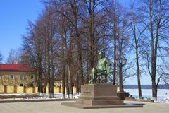 Monumento a Piotr Tchaikovsky in Votkinsk Russia Fotografia Stock Libera da Diritti