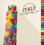 Monumento poligonal de la señal de Italia del viaje ilustración del vector