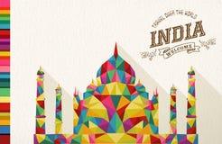 Monumento poligonal de la señal de la India del viaje ilustración del vector