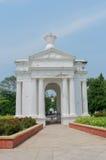 Monumento in Pondicherry, India del parco di Aayi Mandapam fotografie stock libere da diritti