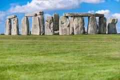 Monumento pré-histórico de Stonehenge perto de Salisbúria, Wiltshire, Engla foto de stock