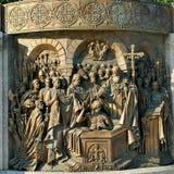 Monumento a príncipe Vladimir del santo imagen de archivo