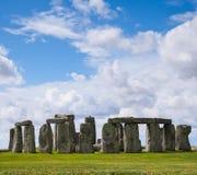 Monumento preistorico delle pietre diritte di Stonehenge fotografia stock