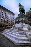 Monumento a principe Mihailo Obrenovic Fotografia Stock