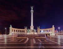Monumento quadrado dos heróis em Budapest Hungria Fotos de Stock Royalty Free