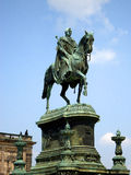 Monumento a re Johann, Dresda fotografie stock