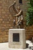 Monumento a rey David, Israel Fotografía de archivo libre de regalías