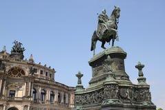 Monumento a rey Johann imagen de archivo