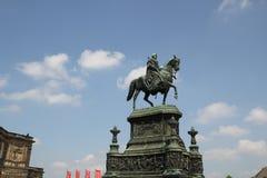 Monumento a rey Johann un caballo imagen de archivo libre de regalías