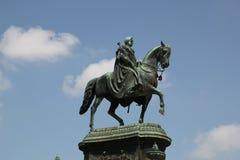 Monumento a rey Johann un caballo imágenes de archivo libres de regalías