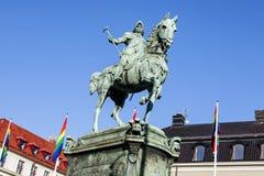 Monumento a rey Karl IX foto de archivo