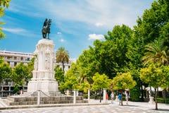 Monumento a rey Saint Ferdinand en el nuevo cuadrado fotografía de archivo libre de regalías