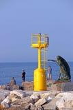 Monumento Rimini do farol e da mulher imagem de stock