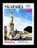 Monumento a Ruben Dario, Managua, serie delle costruzioni, circa 1983 Immagine Stock Libera da Diritti