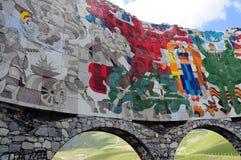 Monumento Russo-georgiano di amicizia Immagini Stock Libere da Diritti
