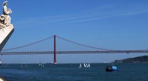 Monumento ?s descobertas em Lisboa em Portugal fotografia de stock royalty free