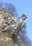 Monumento a San Jorge el victorioso en Ossetia del norte, Alania fotografía de archivo libre de regalías
