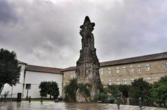 Monumento in Santiago de Compostela, Spagna Fotografia Stock