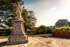 Monumento a Schulenburg, Marshall de las fuerzas venecianas, Kerkyr Foto de archivo libre de regalías