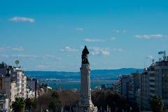 Monumento a Sebastiao Jose de Carvalho e Melo, primeiro marquês de Pombal foto de stock