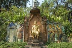 Monumento siamese francese Phnom Penh Cambogia di trattato fotografia stock libera da diritti