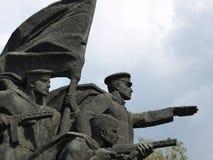 Monumento soviético de la guerra de la era Fotos de archivo libres de regalías