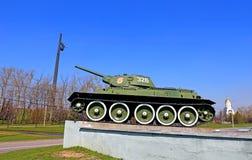 Monumento soviético del tanque en Victory Park en Moscú Imagen de archivo