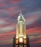 Monumento soviético Rabochiy i Kolkhoznitsa (trabajador y mujer o trabajador koljosiano y granjero colectivo) del escultor Vera M Fotografía de archivo libre de regalías