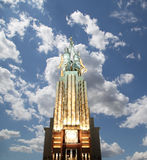 Monumento soviético Rabochiy mim Kolkhoznitsa (trabalhador e mulher ou trabalhador Kolkhoz e fazendeiro coletivo) do escultor Ver Fotos de Stock Royalty Free