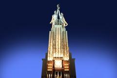 Monumento sovietico Rabochiy i Kolkhoznitsa (lavoratore e donna o lavoratore Kolkhoz e agricoltore collettivo) dello scultore Ver Immagine Stock Libera da Diritti