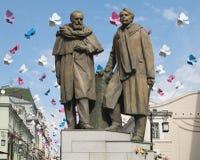 Monumento a Stanislavsky y a Nemirovich-Danchenko Fotos de archivo libres de regalías