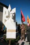 Monumento a Stepan Bandera Fotos de archivo libres de regalías