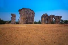 Monumento Stonehenge do milagre de Tailândia com o céu azul fotografia de stock