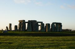 Monumento Stonehenge em Inglaterra fotografia de stock