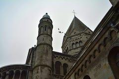 Monumento storico, chiesa, nella stazione termale del villaggio, il Belgio Immagini Stock