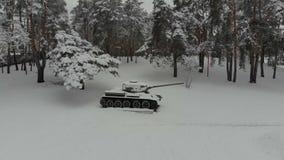 Monumento storico del carro armato T-34 stock footage