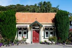 Monumento storico della biblioteca di Akaroa fotografia stock libera da diritti