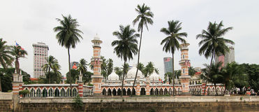 Monumento storico della moschea di Jamek Immagine Stock